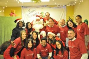 Lyle and his Credit Suisse colleagues at The Family Center Holiday Party 2012