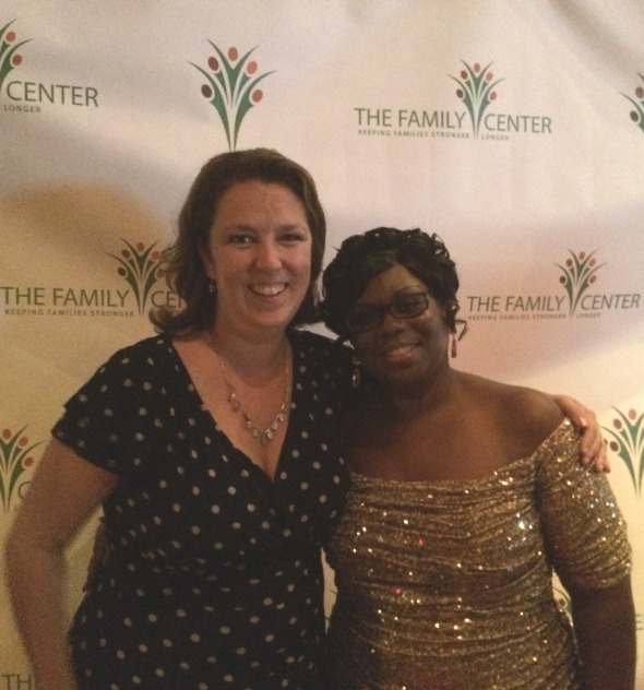 Family Center Board Chair and TFC Turns 20! honoree Amy Yates Capone with our Executive Director Ivy Gamble Cobb