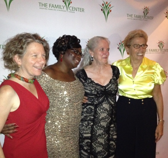 The Family Center founders -from left to right: Amy Shire, Ivy Gamble Cobb, Jan Hudis and Barbara Draimin
