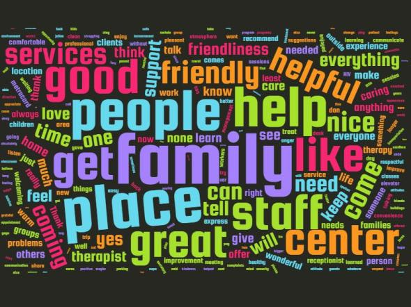 Word Cloud from Client Satisfaction Survey 2.12.2016
