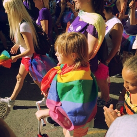 Child in rainbow flag 7.2016